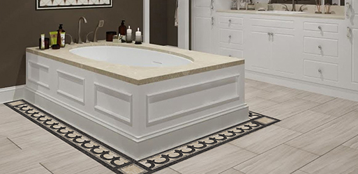 Grenadier Stone Floor Border 550