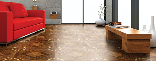 Rochester-Wood-Parquet Flooring with Metal 194BR