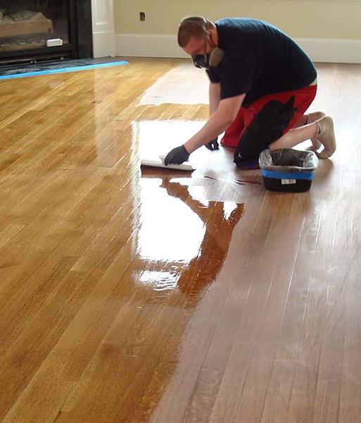 hardwood staining