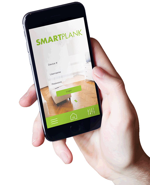 Monitor your floors with the SmartPlank App